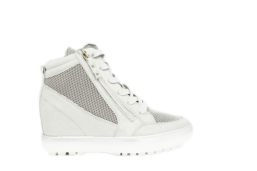 buy online 4545e e3997 Sneakers con zeppa interna e doppia cerniera