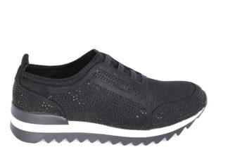 Sneakers nere scamosciate con lacci