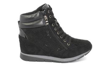 Sneakers con zeppa interna e brillantini
