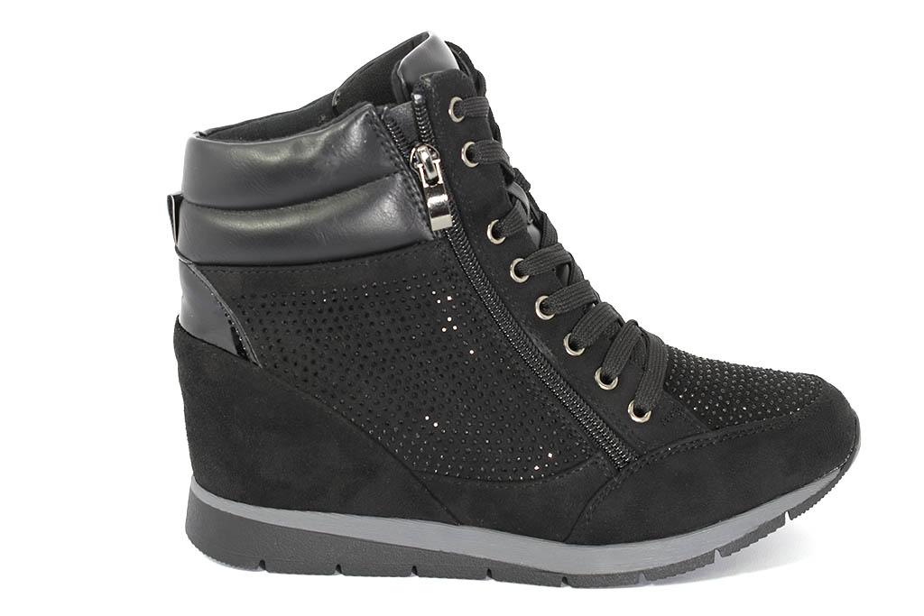 cheaper e8f58 12fe4 Sneakers con zeppa interna e brillantini