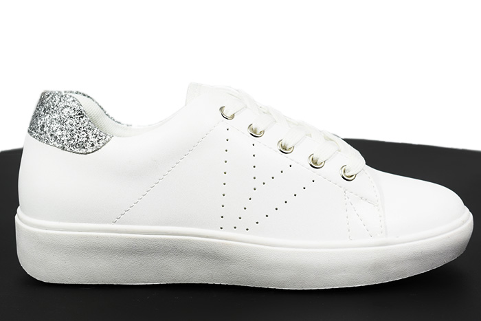 official photos 2a1c4 3e9d4 Sneakers bianche con brillantini