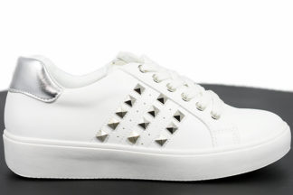 Sneakers bianche in ecopelle