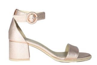 Sandali con fascia e tacco quadrato