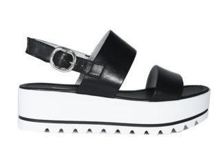 Sandali in pelle con doppia fascia