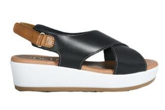 Sandalo con zeppa bianca