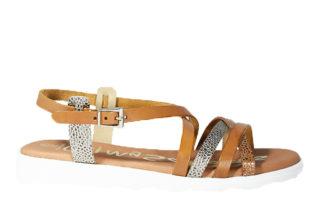 Sandalo basso bicolore