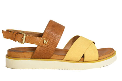 Sandalo basso fascia a incrocio