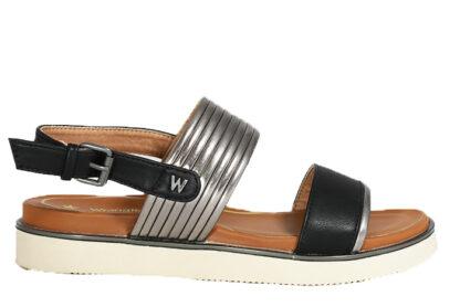 Sandalo basso doppia fascia