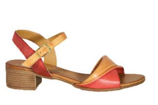 Sandalo bicolore in vera pelle