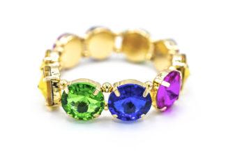 Bracciale con pietre arcobaleno