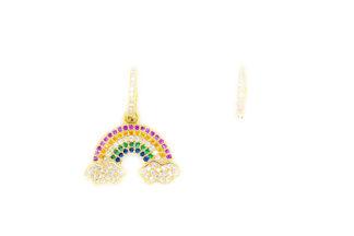 Orecchini arcobaleno singolo