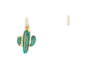 Orecchini cactus singolo