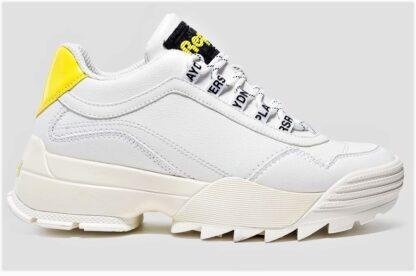 Sneakers bianche suola alta