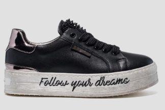 Sneakers nere da donna