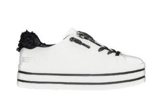 Sneakers bianche elastico interno