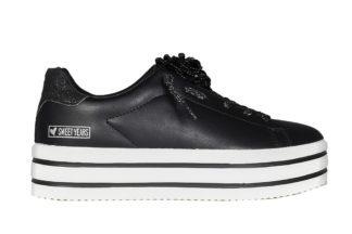 Sneakers nere fiore pietra