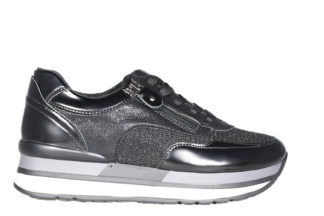 Sneakers nere con zip