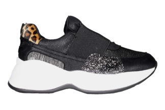Sneakers elastico retro leopardato