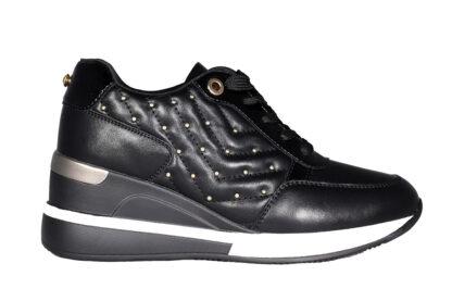 Sneakers zeppa borchie bronzo