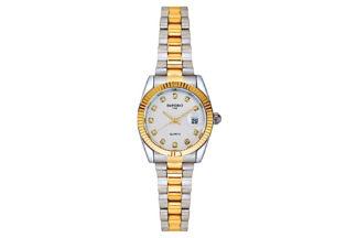 orologio bottoncino silver/gold