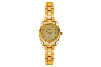 orologio bottoncino gold