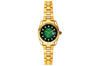 orologio bottoncino gold/green