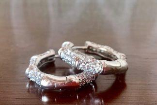 orecchini silver e strass