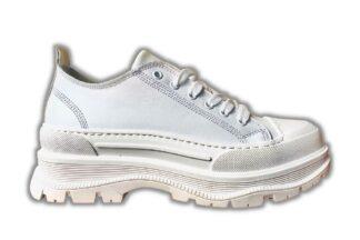 Sneakers vera pelle bianche Chiara