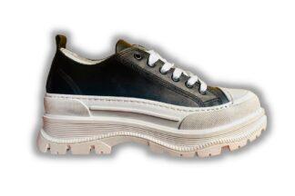 Sneakers vera pelle nere Chiara
