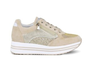 Sneakers zip Queen Helena Beige