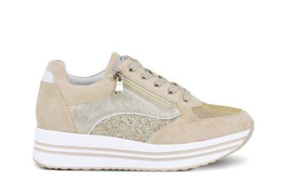 Sneakers zip Queen Helena Beige