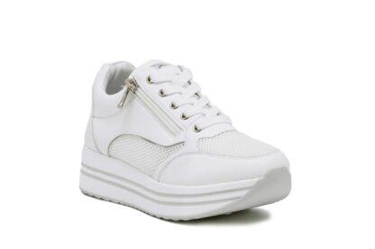 Sneakers zip Queen Helena Bianche