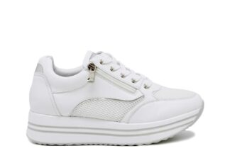 Sneakers zip Queen Helena Bianche