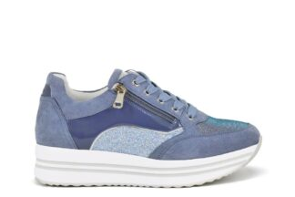 Sneakers zip Queen Helena Blu