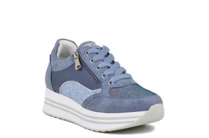 Sneakers zip Queen Helena Blu