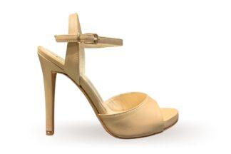 Sandalo alto con tacco Nappa Nude
