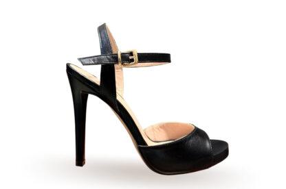 Sandalo alto con tacco Nappa nero (2)