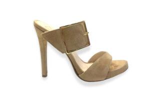Sandalo alto con tacco camoscio beige Gianna scarpe per la donna uniche (1)