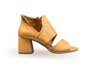Sandalo donna con tacco Nappa Cuoio Trudi