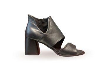 Sandalo donna con tacco Nappa Nero Trudi
