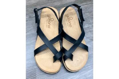 Sandalo donna neroYokono Chipre 718