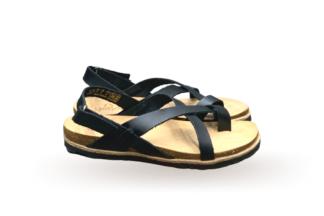 Sandalo donna nero Yokono Chipre 718