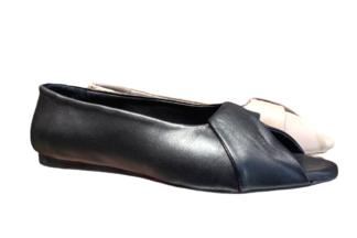 Ballerina a punta spuntata Nappa Vera Pelle scarpe da donna basse comode estive (2)