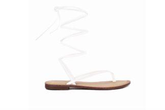 Sandalo Gladiator Bianco Queen Helena sandalo da donna