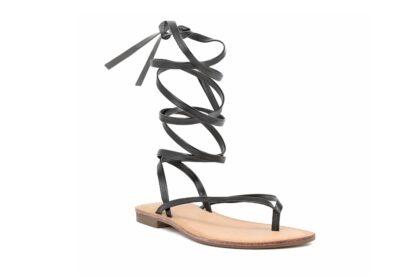 Sandalo Gladiator Nero Queen Helena sandalo da donna (1)