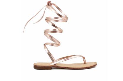 Sandalo Gladiator Rose Gold Queen Helena scarpe estive per la donna (2)