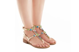 Sandalo Positano Gold Queen Helena scarpe estive comode Y2019 (2)