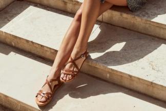 Sandalo donna cuoio vera pelle Erica sandalo estivo comodo oh my sandals scarpe comode estive in pelle