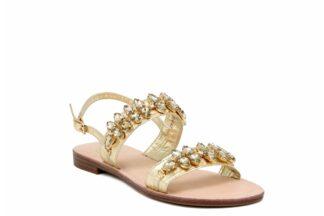 Sandalo Positano Gold a fasce Queen Helena Y3030 sandali per la donna estivi (2)