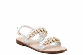 Sandalo Positano Silver a fasce Queen Helena Y3030 sandalo estivo per la donna (2)